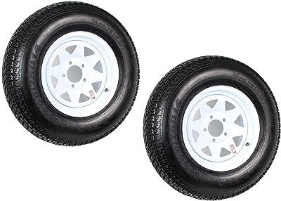 2-Pack Trailer Tire On Rim