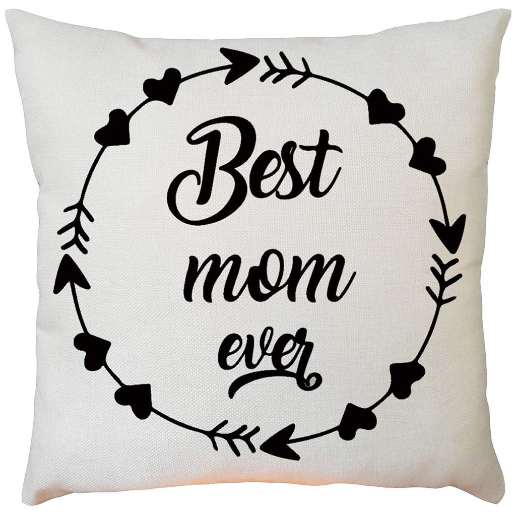 2019 EOWEO Happy Mother's Day Sofa Bed Home Decoration Festival Pillow Case Cushion Cover(43cm×43cm,I)
