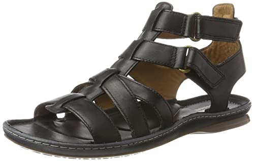 Sarla Choir, Sandalias con Cuña para Mujer, Negro (Black Leather), 35.5 EU Clarks