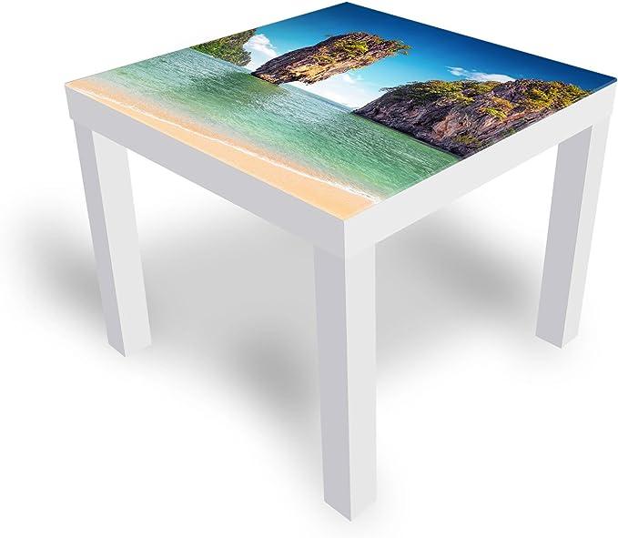 DekoGlas Mesa de Cristal Decorativo IKEA lacada, Mesa Auxiliar ...