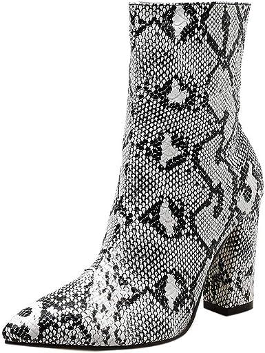 Ninasill Combat Boots Women Snakeskin