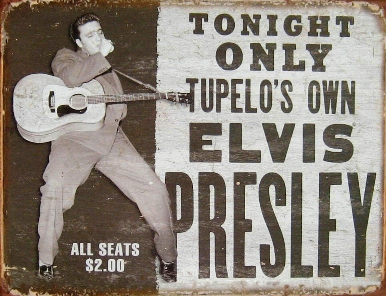 Hunnry Elvis Presley Tonight Only Poster Metall Blechschilder Retro Dekoration Schild Aluminium Blechwaren Vintage Wandkunstplakat Zum Cafe Bar Wohnzimmer Zuhause