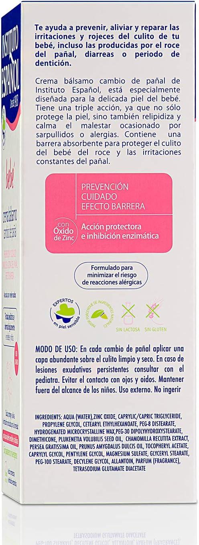 Instituto Español Bebé Crema Bálsamo Pañal - 150 ml: Amazon.es: Belleza