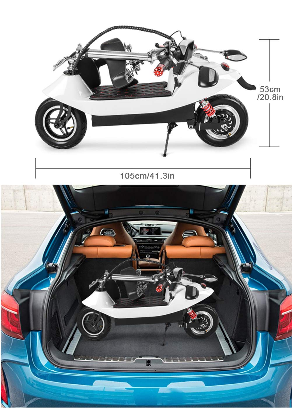 Amazon.com: Bicicletas eléctricas plegables para adultos ...