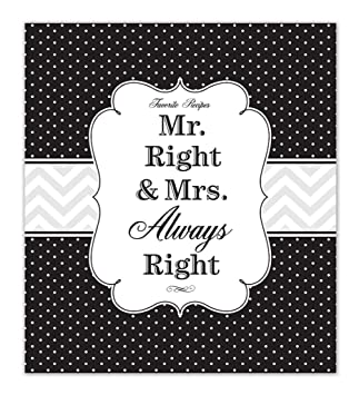 Brownlow Gifts Recipe Binder Set with Plastic Page Protectors and Recipe  Cards, Mr  and Mrs  Right