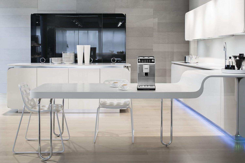 SB Kaffeevollautomat 1450 W, 1,3 l, Dampfd/üse 510 DeLonghi Autentica ETAM 29 silber//schwarz