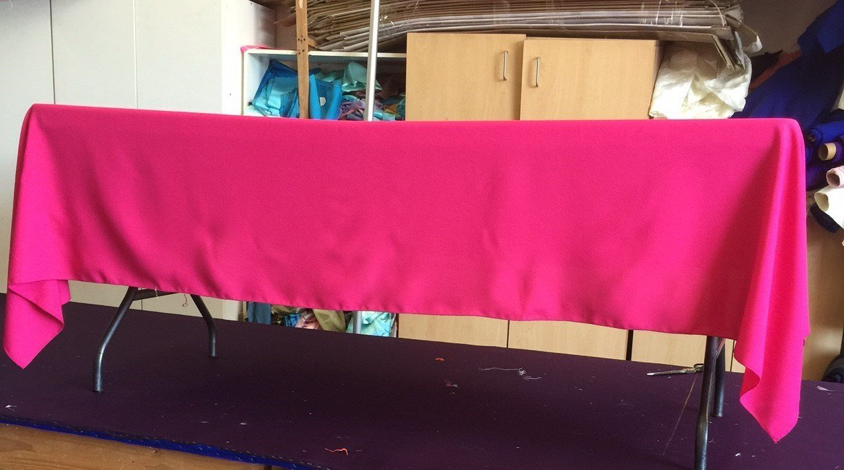 Hot Pink Fuschia Gabardine Tablecloth 60 x 102 Birthday Wedding Party Baby Shower Picnic Bridal shower
