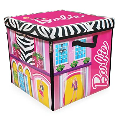Barbie ZipBin 40 Doll Dream House Toy Box and Playmat, Styles May Vary: Toys & Games