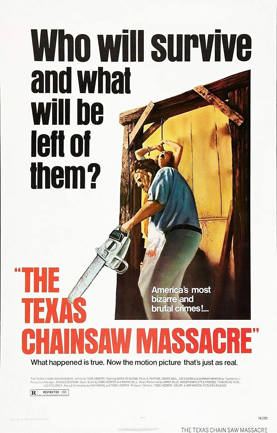 THE TEXAS CHAINSAW MASSACRE Movie Poster Metal Tin Sign Well Pub Dec