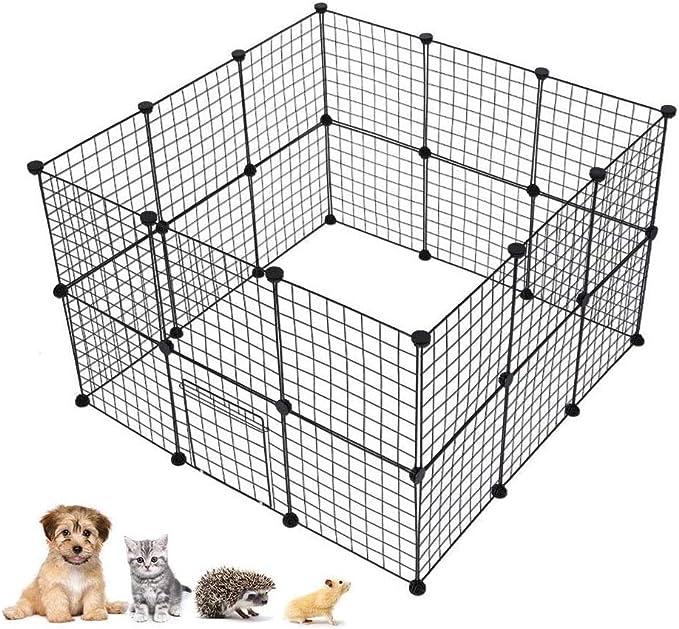 HYDT Jaula Modular Valla para Animales Pequeños Parque para Mascotas para Hámsteres Cobayas Conejos Perros Gatos