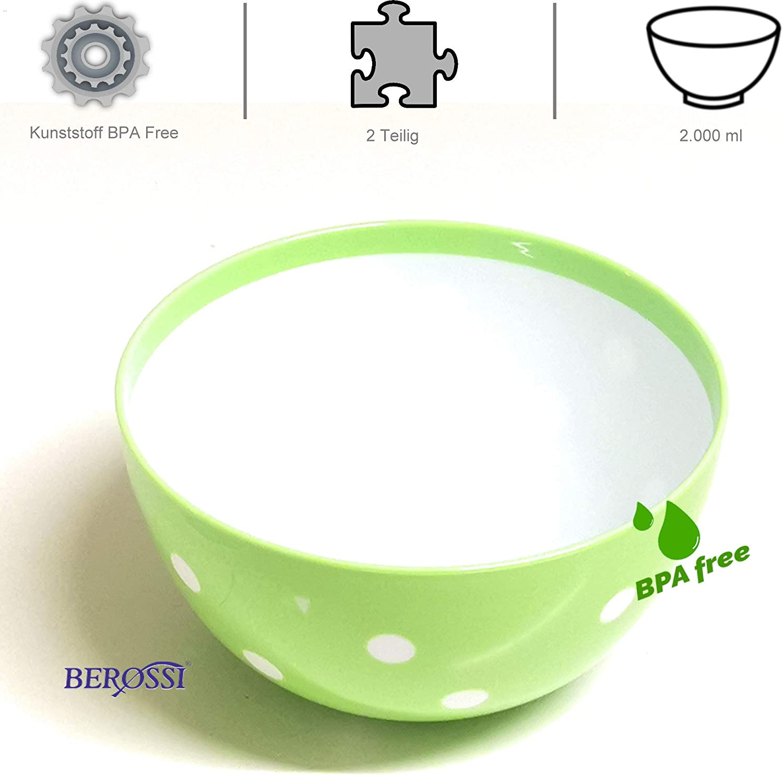 Frischhaltedose SalatschüsselSchüssel Dose mit Deckel 2,0 LiterSchale rund