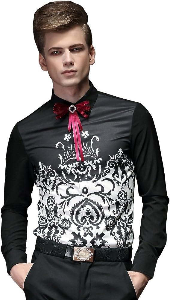 FANZHUAN Camisa Hombre Estampada Camisa Hombre XXXL Camisa Hombre Flores Camisa Hombre Boda: Amazon.es: Ropa y accesorios