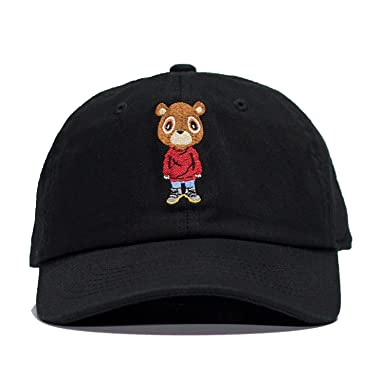 Novo Los Angeles Kanye Graduation Bear Dad Hat in Twilled Cotton (Black) ea5081bfdfd