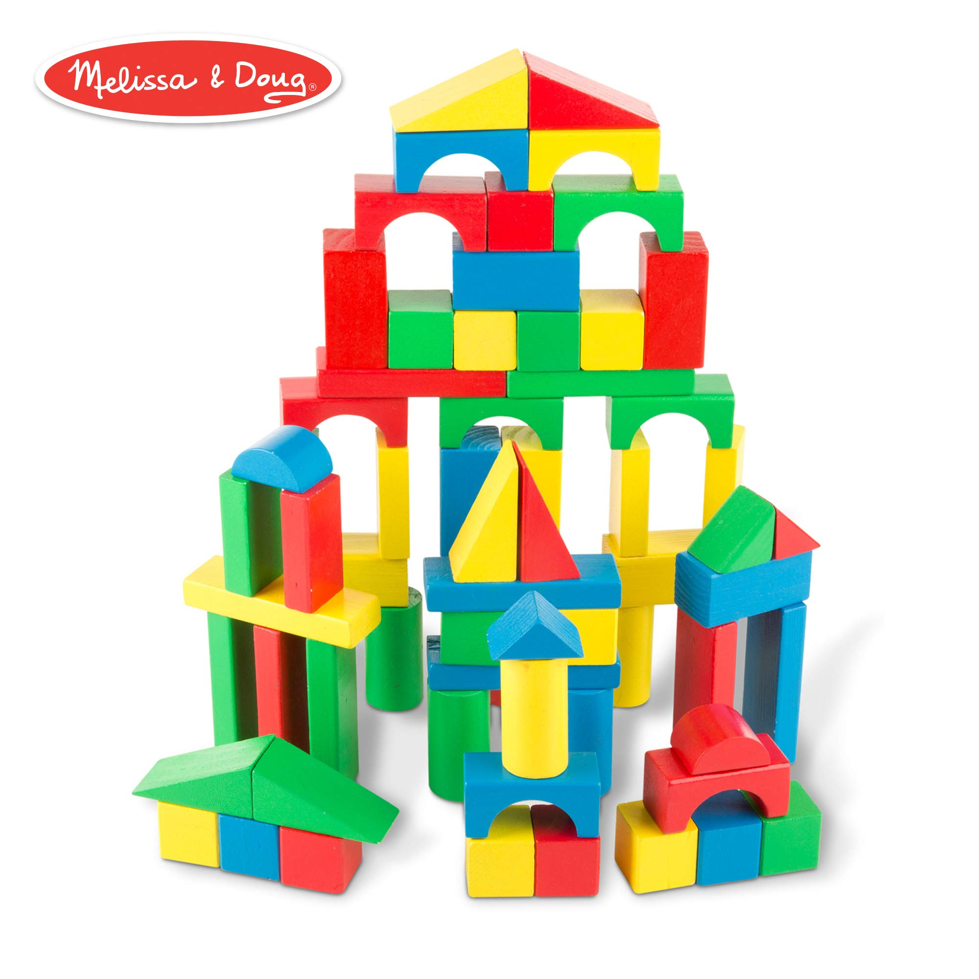 Trees and City Buildings Cars Little Town Colorful Solid Wood Set Jigsaw Puzzle Mat Wooden Building Blocks for Toddlers Educational Baby Toy for Boys and Girls Toy Chest Nyc 100 Pieces Include People