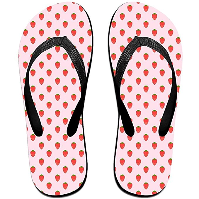 85a212b6 Amazon.com: Starphilad Unisex Summer Strawberry Beach Slippers Home Flip- Flop Flat Thong Sandal Shoes: Clothing