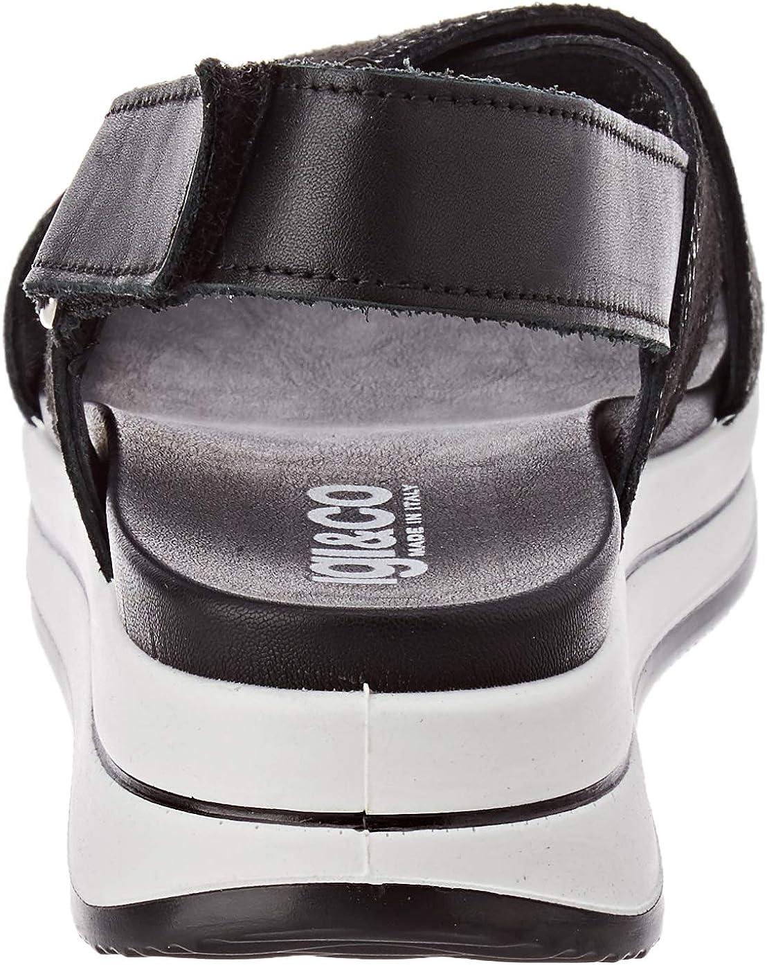 IGI&Co Damen Sandalo Donna Dsd 51743 Plateau Sandalen Schwarz Nero 5174300