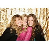 10ft X 10ft Gold SEQUIN PHOTO BACKDROP, Select Your Size,Wedding Photo Booth,Photography Background,Ceremony Background