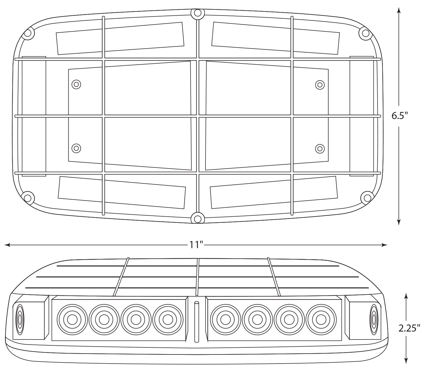 Blazer C4855AW LED Warning Light Bar with Magnetic Base, Amber by Blazer International Trailer & Towing Accessories (Image #6)