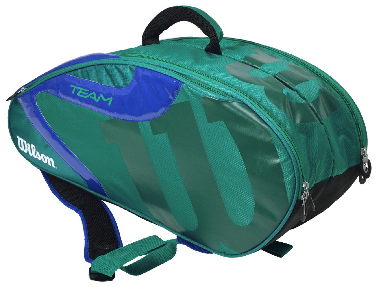 Wilson(ウイルソン) テニスバッグ TEAM J 6PACK WRZ640706 B01N29ILXP 76×23×32cm|グリーン×ブルー グリーン×ブルー 76×23×32cm