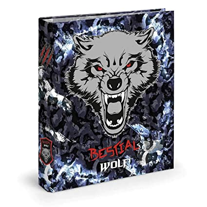 Dis2 - Archivador 4 anillas 3,5 bestial wolf negro: Amazon.es ...