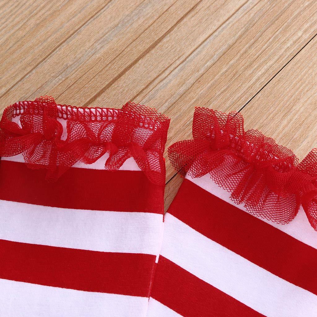 Natale Bambino Costume Babbo 0-12 Mesi Leggings Pigiama Bambina Caldo Tuta Pigiami Invernali Tutine Neonata Vestito Inverno Neonato Abbigliamento Christmas Completo// Rosso 2 PCS Pagliaccetto