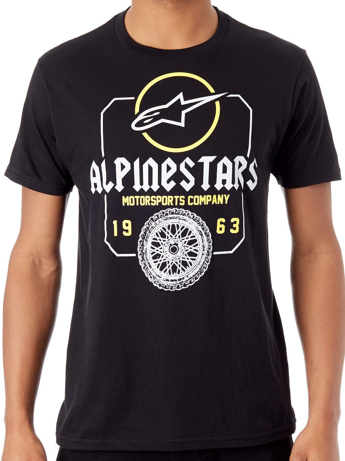 Alpinestars Unisex-Adult's Whiteout Tee, Black, 2XL