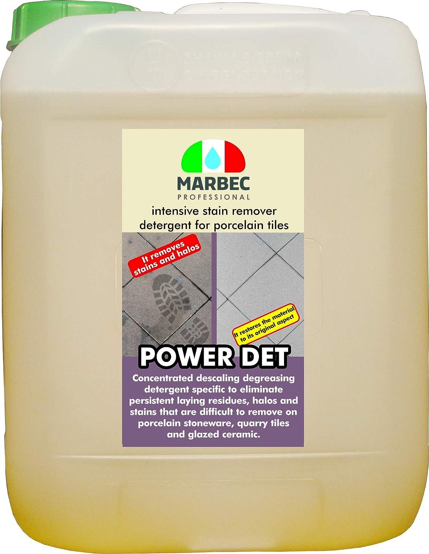 Marbec - POWER DET 1LT | Detergente desincrustante quitamanchas para gres porcelánico: Amazon.es: Hogar