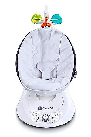 4moms bounceRoo Babyschaukel automatisch mit Batterien und Spielbogen silber Babywippe Plush
