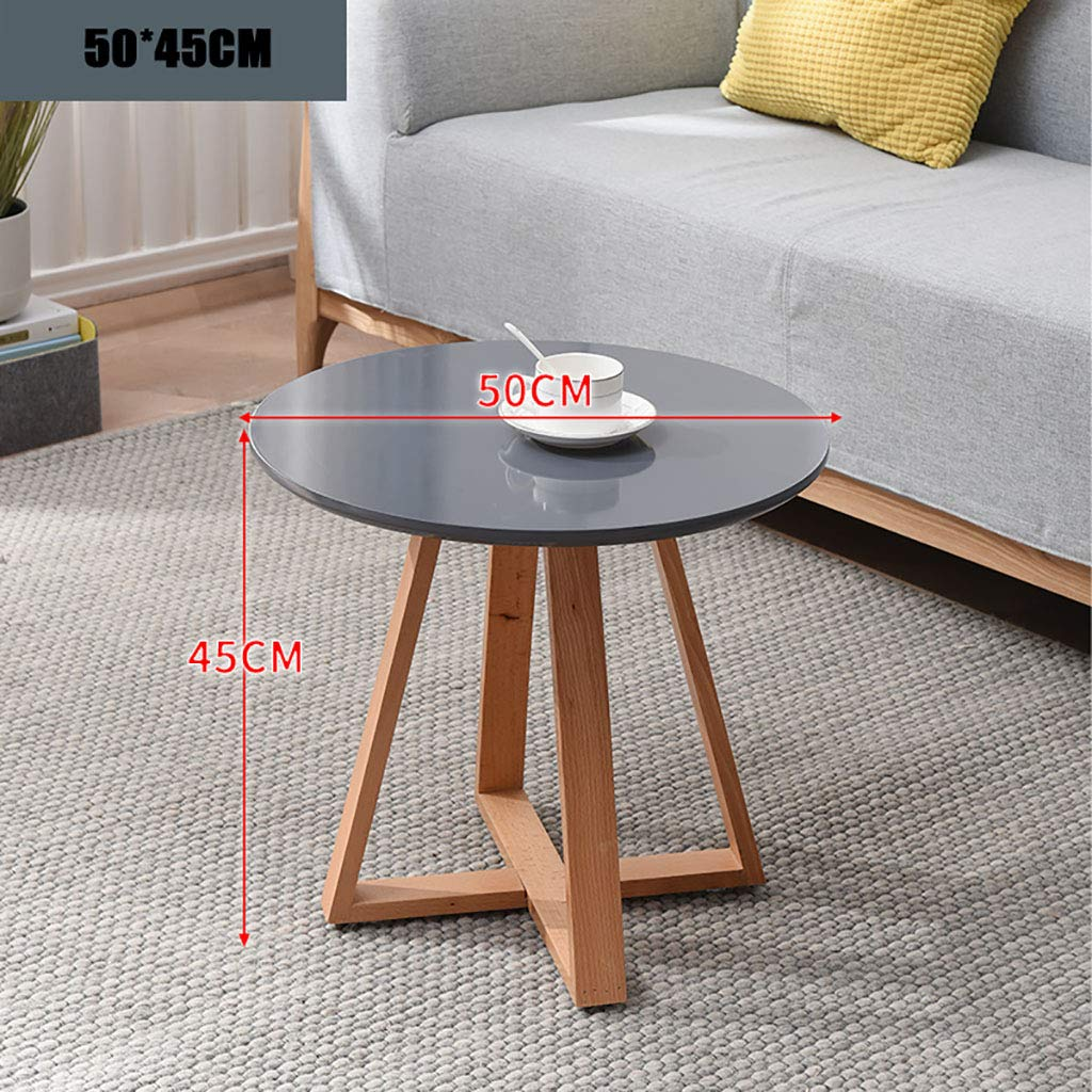 Garde Side Table, Simple Mini Bedroom Modern Home Small Coffee Table, Solid Wood Creative Casual Negotiation Small Table (Color : A, Size : 8050CM) by Garde