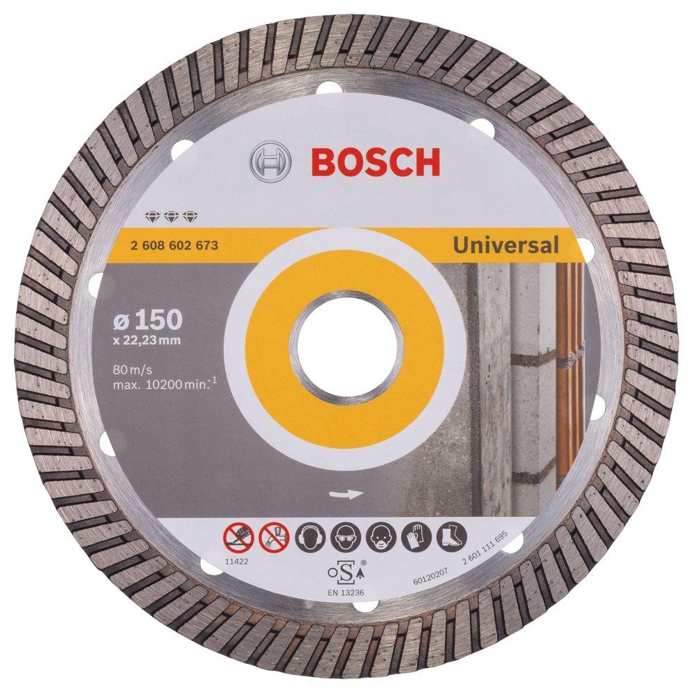 2608602673 BOSCH 150MM DIAMOND CUTTING DISC BEST FOR UNIVERSAL TURBO