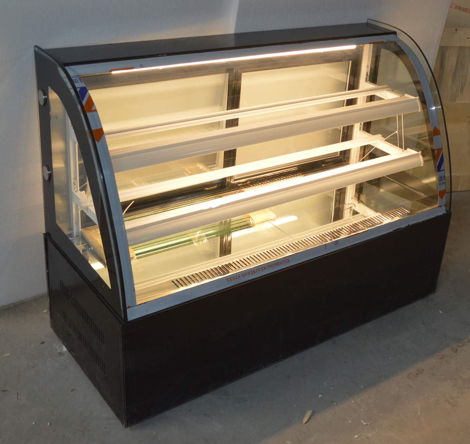 INTBUYING 47'' Countertop Bekery Cabinet Display Case Glass Refrigerated Cake Showcase 220V 315W 36-46F by INTBUYING (Image #2)