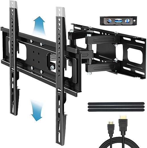 Everstone TV Wall Mount for Most 32″-65″ TVs Heavy Duty Dual Arm Articulating Full Motion Tilt Swivel 14″ Extension Bracket,LED,LCD,OLED&Plasma…