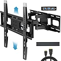 """Everstone TV Wall Mount for Most 32""""-65"""" TVs Heavy Duty Dual Arm Articulating Full Motion Tilt Swivel 14"""" Extension…"""
