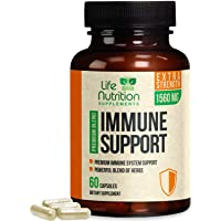 Immune System Support Vitamins 1560mg - Natural Multi-System Wellness Supplement...