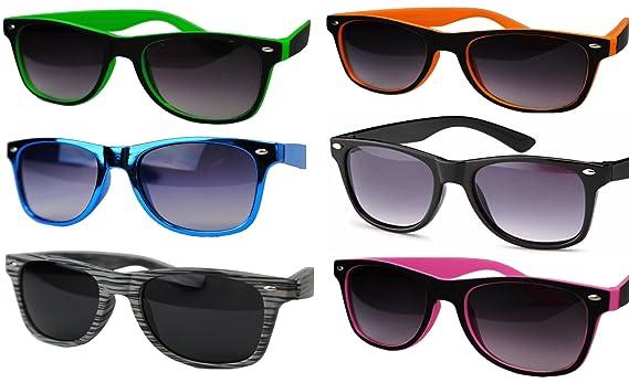Immerschön Nerd-Sonnenbrille - schwarz-dunkelblau - Wayfarer-Design Retro Bluesbrothers SAHFSXp