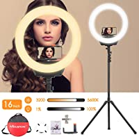 Deals on Mbuynow 38-W Ring Light with Stand 16-inch