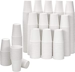 [592 Pack] 8 oz White Paper Cups, Disposable Paper Cups, Heavyduty Hot/Cold Beverage Drinking Cups for Party, Picnic, BBQ, Travel, and Event