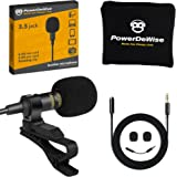 Professional Grade Lavalier Lapel Microphone Omnidirectional Mic with Easy Clip On System Perfect for Recording Youtube / Int