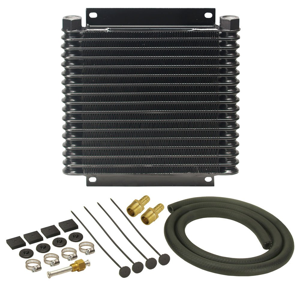 Derale 13614 Series 9000 Plate and Fin Transmission Oil Cooler