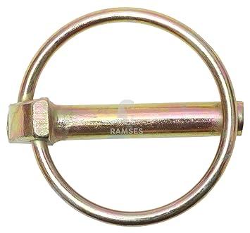 50 x Klappsplinte 10 mm Klappstecker Splinte Stahl gelb verzinkt