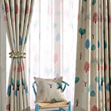 Melodieux Cartoon Trees Blackout curtains with top Grommets for Kids Room,W140cm x L260cm -1Panel