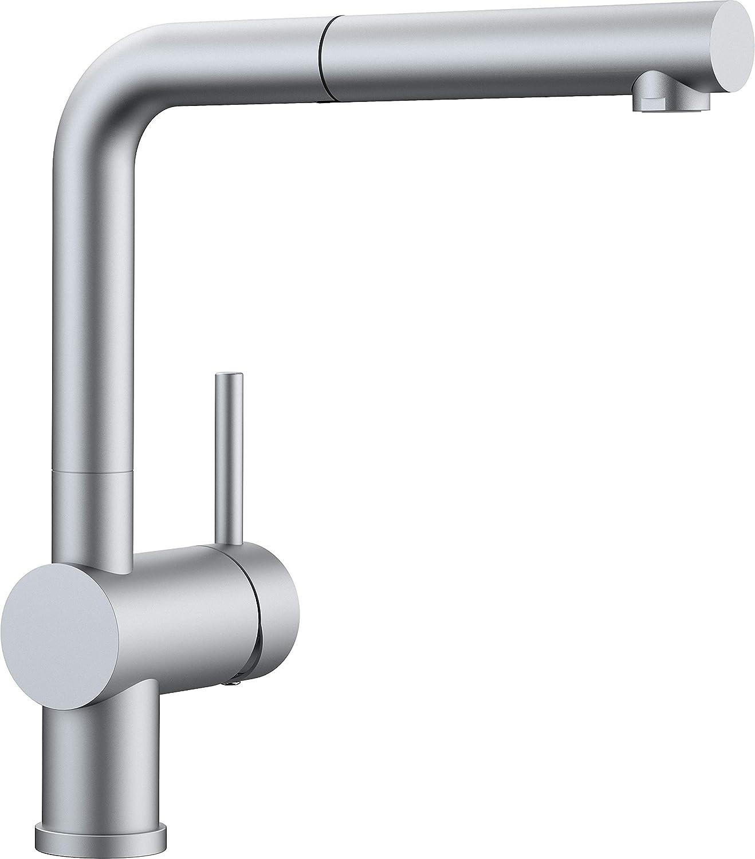 Chrome Matt Hochdruck - Schlauchbrause whiteo Linus-S Vario Kitchen Tap Metallic Surface Chrome High-Pressure, Black, 516698