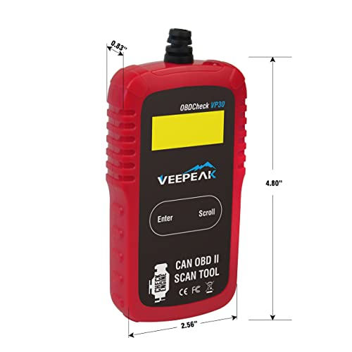 If you're content with a corded device then Veepeak OBD2 Scanner Automotive OBD II Diagnostic Scan Tool Code Reader can be a good choice.