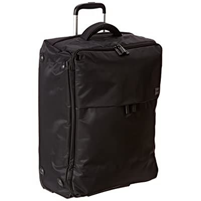 Lipault Luggage Foldable 2 Wheeled Upright Suitcase 24 Inch,Black,One Size
