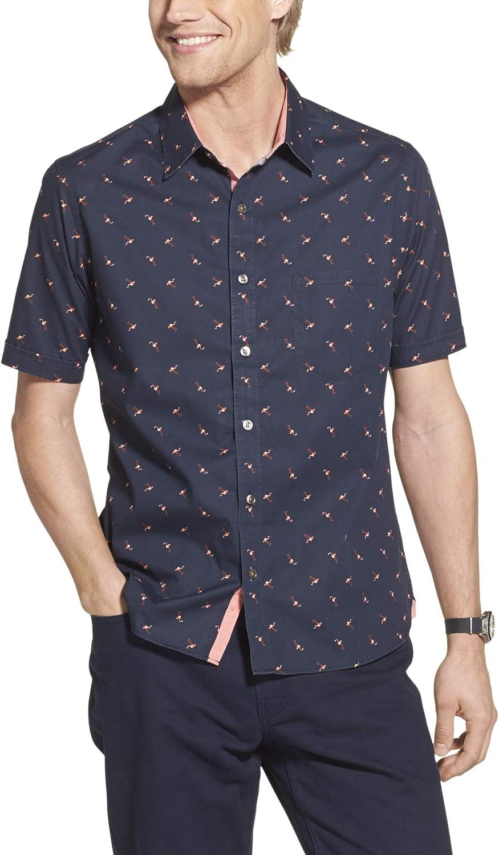 Geoffrey Beene Men's Slim Fit Easy Care Short Sleeve Button Down Shirt 71yBkQQmCmL