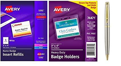 amazon com avery name badge insert refills 3 x 4 box of 300