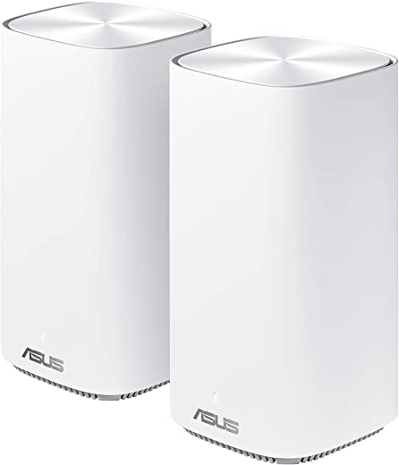 ASUS Zenwifi mini CD6 AC1500 Whole-Home Mesh WiFi System – Coverage up to 5,000 Sq. ft. / 5+ rooms, life-time free network security & parental…