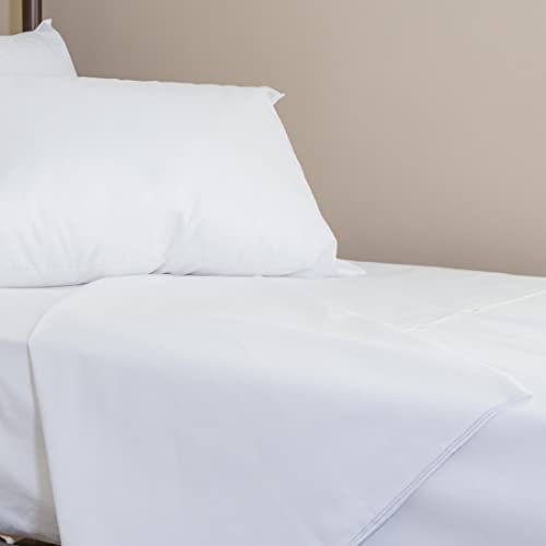 Luxurious Poly Cotton Hospital Quality Flat Sheet / Top Sheet In Single Bed  Size