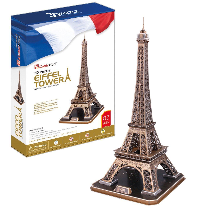 cubicfun 3d puzzle torre eiffel parigi 82 pezzi idea regalo natale ebay