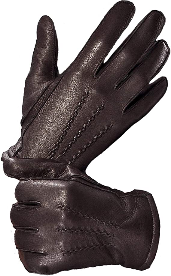 Men/'s Driving Leather Gloves Black Deerskin Leather Business class Gloves